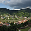 View of Heidelberg and Neuenheim across the Neckar River from the castle.<br /> <br /> (picture taken July 11, 2009)