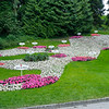 Map in flowers of the Bodensee (Lake Constance) in the gardens on Mainau Island.<br /> <br /> picture taken July 13, 2009