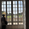 View of the formal baroque gardens from within the Nymphenburg Palace.<br /> <br /> (picture taken July 16, 2009)