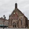 Frauenkirche, Nuremberg. The Frauenkirche was built from 1352 to 1358 at the instigation of Emperor Karl IV.<br /> <br /> picture taken July 19, 2009