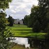 Woerlitz palace (Landhaus) and lawn.<br /> <br /> picture taken July 19, 2009