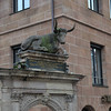 Nuremberg monument. (Merrill-Lynch Office?  You see that it's adjacent to Starbucks)<br /> <br /> picture taken July 19, 2009