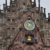 """""""Männleinlaufen"""", a mechanical clock that commemorates the Golden Bull of 1356. The clock was installed in the church in 1506. The Holy Roman Emperor is shown seated with the prince-electors surrounding him. (From Wikipedia)<br /> <br /> picture taken July 19, 2009"""