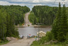 Highway 579 crossing of the Abitibi River by ferry at Gardiner.