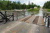 Ferry Cassiopeia IV about the dock at the far side of the Abitibi River.