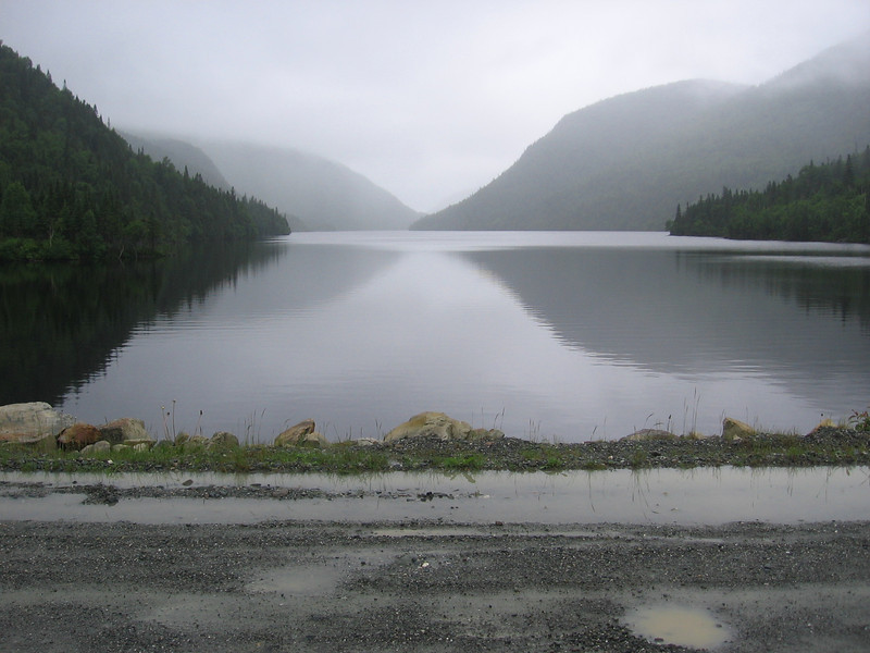 Found our way out after an hour of dead ends & reached Lake Matane in no time on the parc road.