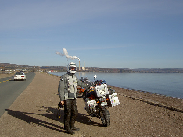 Jt looking the part...heading North towards the Gaspe.