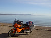 Northern coast of New Brunswick looking at the Gaspe Peninsula in the distance