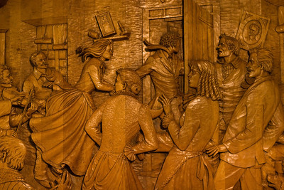 Musee de sculpture #3, Musee de sculptures sur bois des Anciens Canadiens, Saint-Jean-Port-Joli, Quebec, Canada.