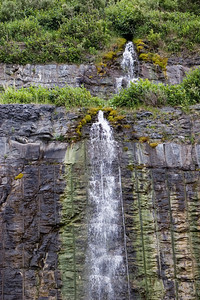 Waterfall near Mont-Saint-Pierre, Gaspesie, Quebec, Canada