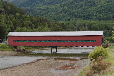 Gallipeault Covered Bridge, Grande-Vallee, Gaspesie, Quebec, Canada
