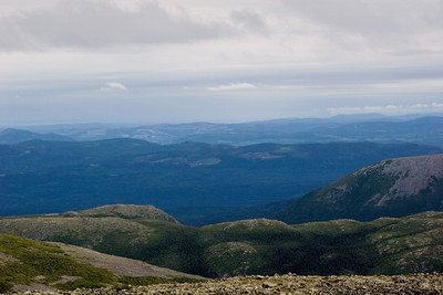View From The Summit of Mont Jacques-Cartier, Parc national de la Gaspe