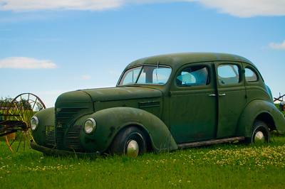 Remarkably good condition for such an old car just sitting on the side of the road