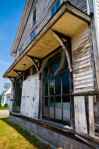 An old abandoned general store. I spoke with a gentleman named Fred who was taking care of the lawn. He says a couple recently purchased it and are planning on doing some renovation, but he wasn't sure if it was going to be commercial or residential.
