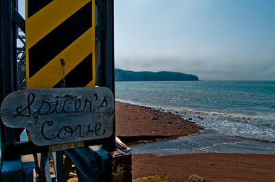 This is Spicers's Cove... see? It has a sign!