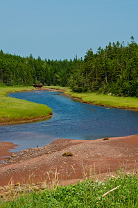 A small river leading into Spicer's Cove