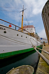 The Acadia at her slip in Halifax Harbor