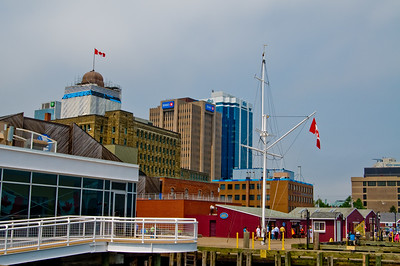 The Halifax Harbor Walk... with some of the buildings from downtown Halifax in the background