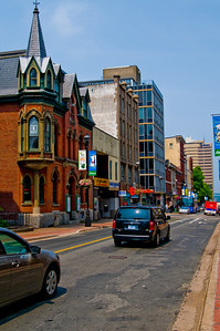 Looking down Barrington St. in Halifax (while I was on my way to the camera store to get some lens cleaner)