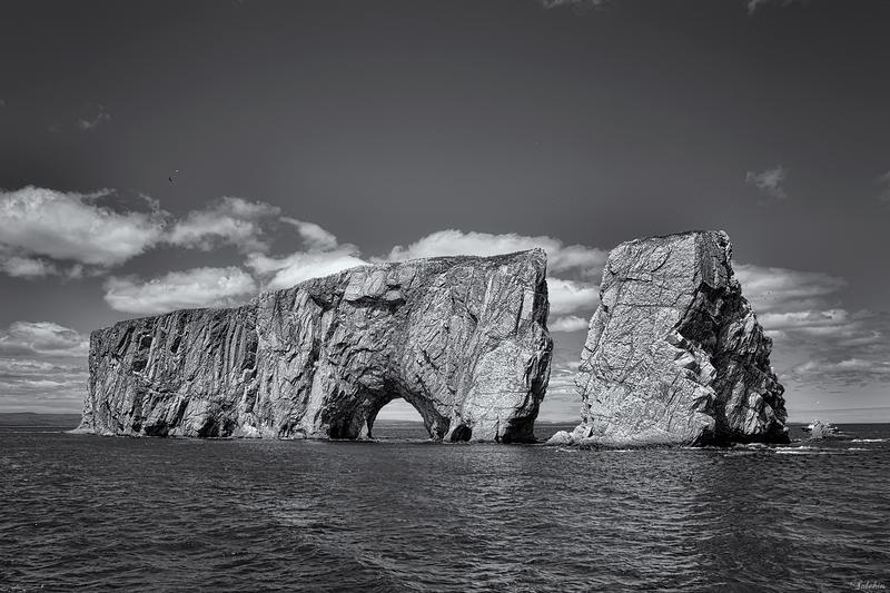 The famous Percé Rock.