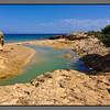 St Ioannis beach - small lagune by the river outlet