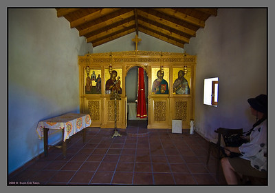 Agios Pavlos - Chapel of st. Paul. Chapel is often used by visitors for contemplation and rest.