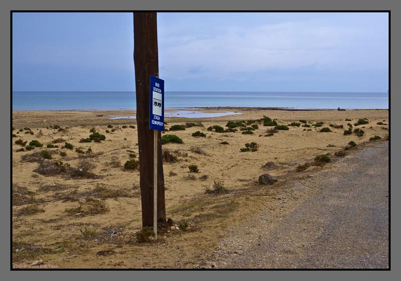 """""""Bus station""""<br /> Sarakiniko beach"""