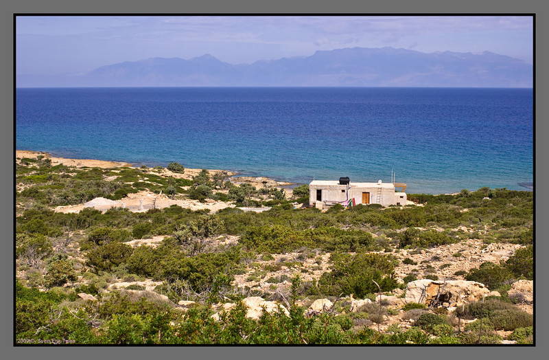 House with a wiiew - overlooking Crete with its mountains peaking at 2400m