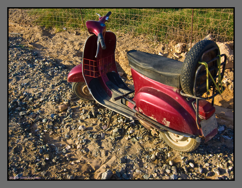 Scootes - a major mean of transport at Gavdos