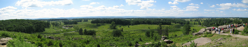 Panorama of view at Little Round Top