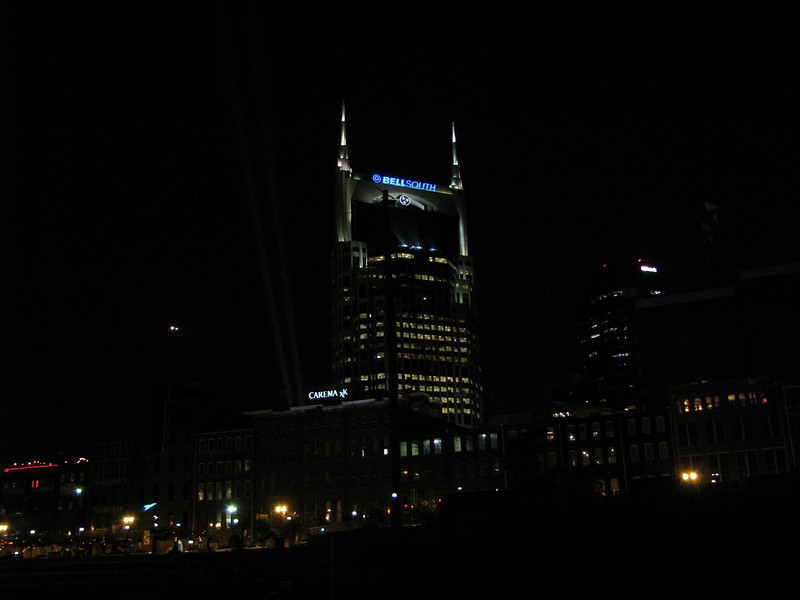 At night, as we cruise aboard the General Jackson thru Nashville, Tenn.