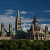 Parliament from Gatineau, Quebec