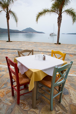 A quiet cafe in Gialova, Greece