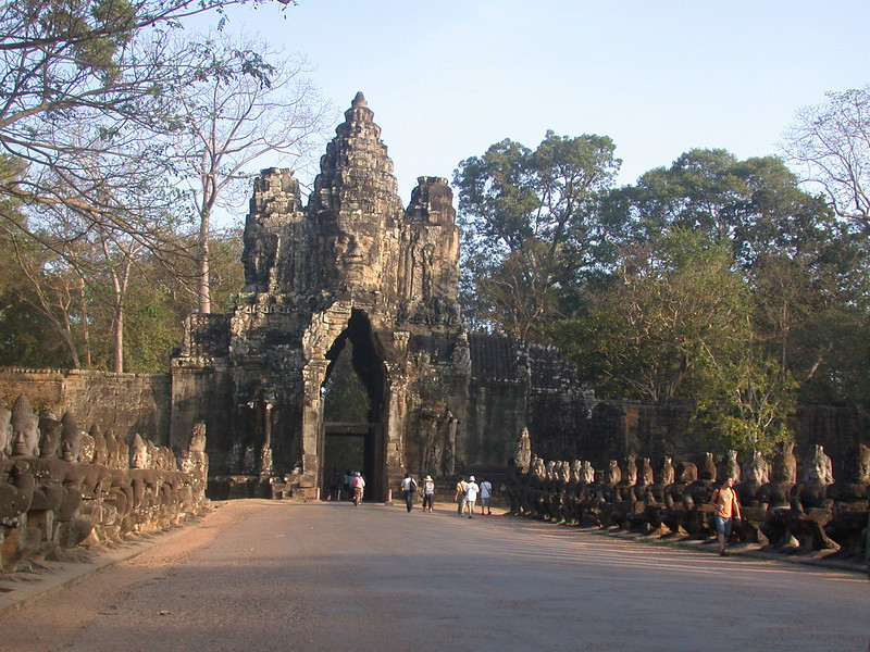 The enrance gate of the Angkor Thom complex.  Within is the Bayon temple.