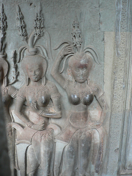 Bas relieves of ritual temple dancers can be found on many walls.