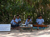 War maimed musicians outside Ta Prom temple.