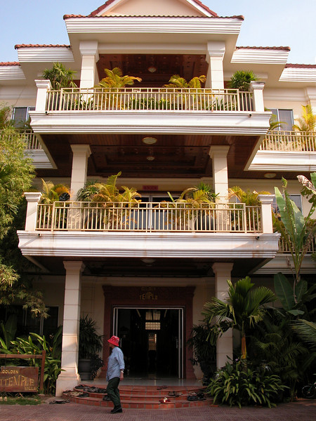 Our hotel in Siem Reap,  Golden Temple Villa.