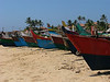 Kovalam town. Part of the beach.