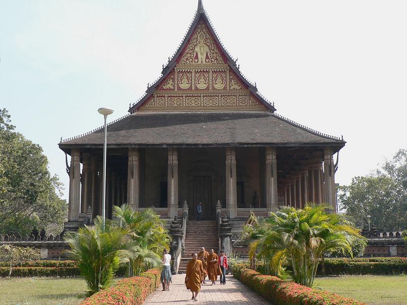 Temple in Vientian.