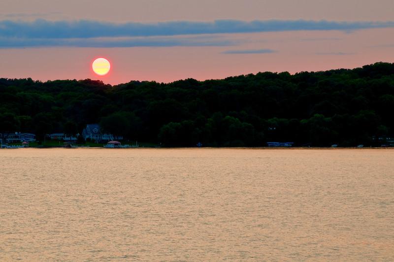 """Geneva Lake-4 """"Geneva Lake Sunset"""""""
