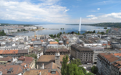 Panorama of Geneva lakefront