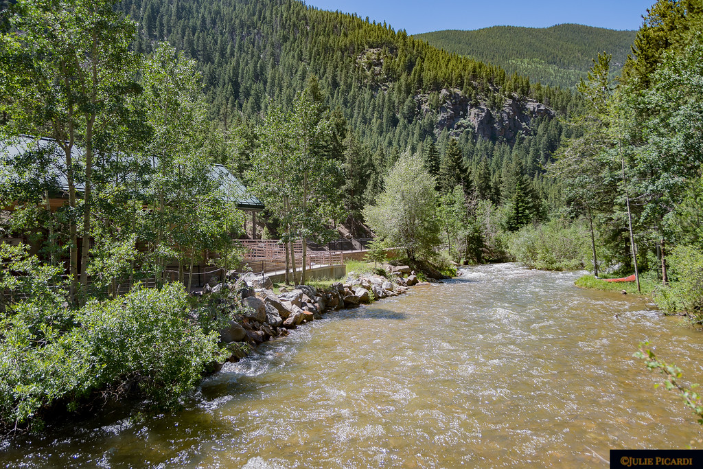 Clear Creek flows along side the Devil's Gate Depot.