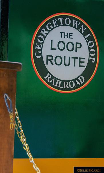 Logo of the Georgetown Loop Railroad.
