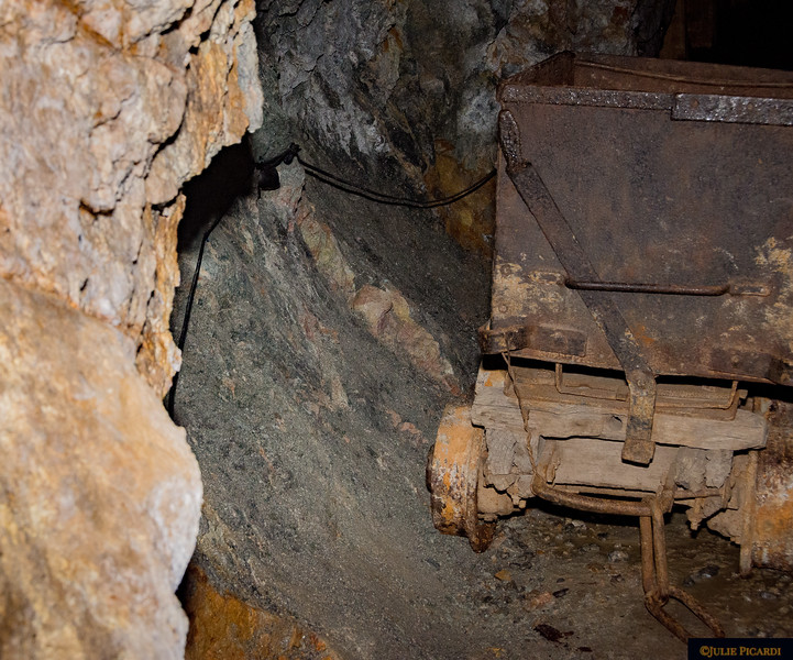 A really old, authentic mine cart.