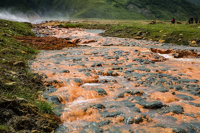 Sulphur deposists in Truso valley