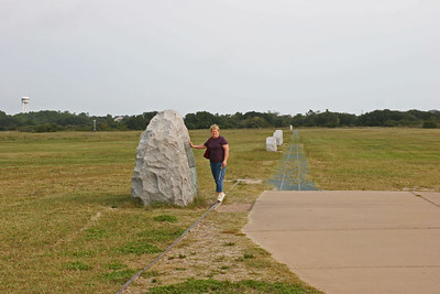 Wright Brothers Memorial - First powered flight take-off point.