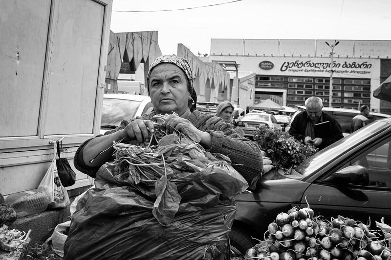 The salad seller