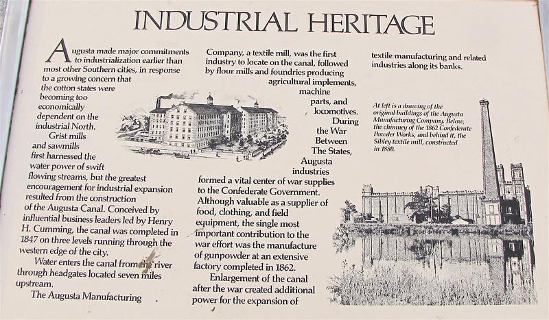 Industrial Heritage Signage - Augusta, GA - May 14, 2010