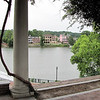 Entrance to Riverwalk with Wisteria Vines on Pergola - Across the River is South Carolina - Augusta, GA - May 14, 2010