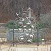Closeup of Beautiful Garden Sculpture - State Botanical Garden of Georgia - Athens, GA  2/10/13